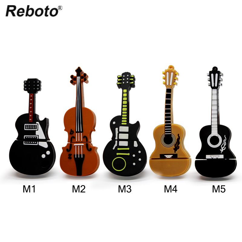 Musical Instrument Pen Drive Violin Usb Flash Drive Pendrive 4gb 8gb 16gb 32gb 64gb Cartoon Guitar Memory Stick U Disk Gift