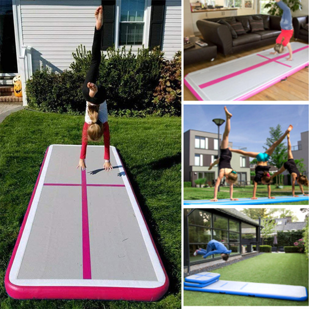 Inflatable Mattress Gymnastic Tumbling Air Yoga Taekwondo Bouncer Airtrack Inflatable Toy Trampoline for Home Gymnastic Exercise цена