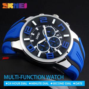 Image 1 - Skmei relógio masculino, novo top da moda de luxo, relógios para homens, casual, relógio de pulso de quartzo, relógio masculino à prova dágua, 2019 horas