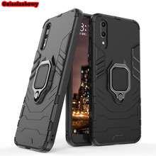 Shockproof Armor Case For Huawei P20 Lite Kickstand Finger Ring Holder Case For Huawei P20 Pro Phone Case Cover Shell Capa(China)
