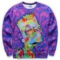 Новые моды для женщин/мужчин 3d мультфильм барт симпсон толстовки забавный Графический с капюшоном вскользь тонкой топы clothing Пуловеры Толстовки S-XL