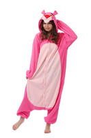 New Animal Cosplay Costume Pink Adult Panther Pajamas Sleepwear Pyjamas Unisex Onesies Sleepsuit