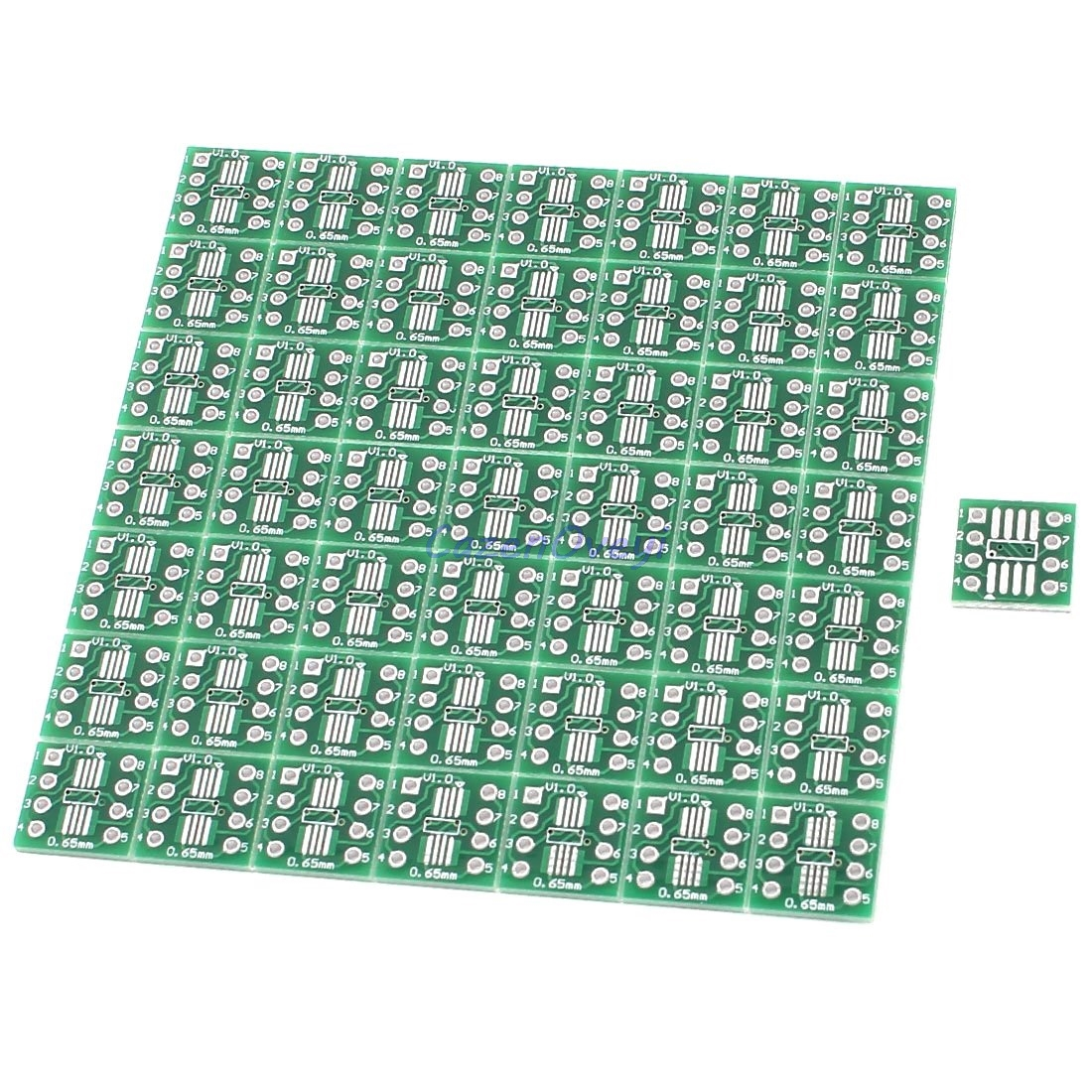 20pcs/lot TSSOP8 SSOP8 SOP8 To DIP8 PCB Transfer Board DIP Pin Board Pitch Adapter In Stock