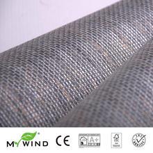 2019 MY WIND grey Grasscloth Wallpapers Luxury Natural Material Innocuity 3D Paper Weave Design Wallpaper In Roll Decor