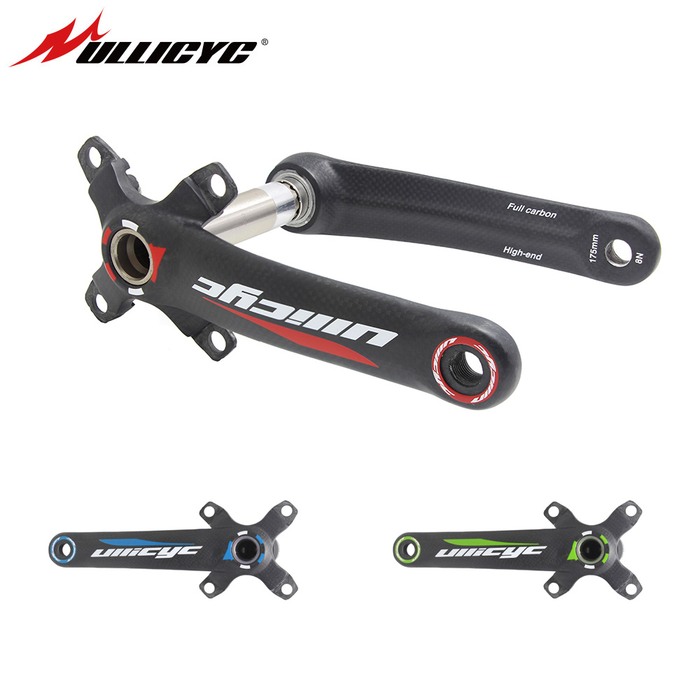 2017 Ullicyc bike crank carbon fiber bicycle crank 4 Claw MTB bike crankset lenght 170mm 175mm BCD-104mm yellow cycling parts free shipping carbon fiber mtb bicycle crank road mountain bike crankset ultra light carbon bmx crank bicicleta 170 172 5 175mm