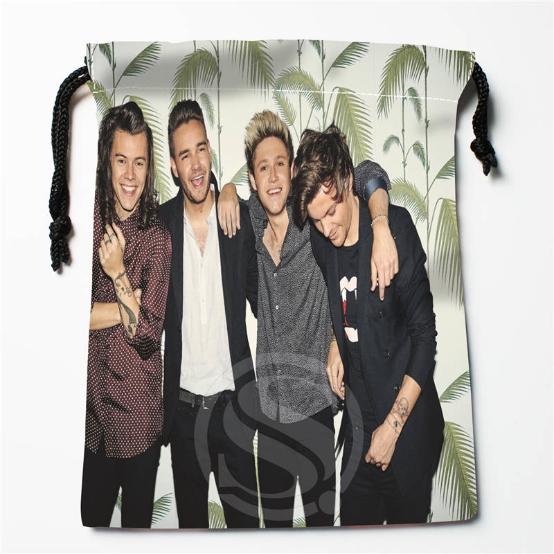 E#!w136 New One Direction Custom Printed  Receive Bag Compression Type Drawstring Bags Size 18X22cm 7&12gt-wy136