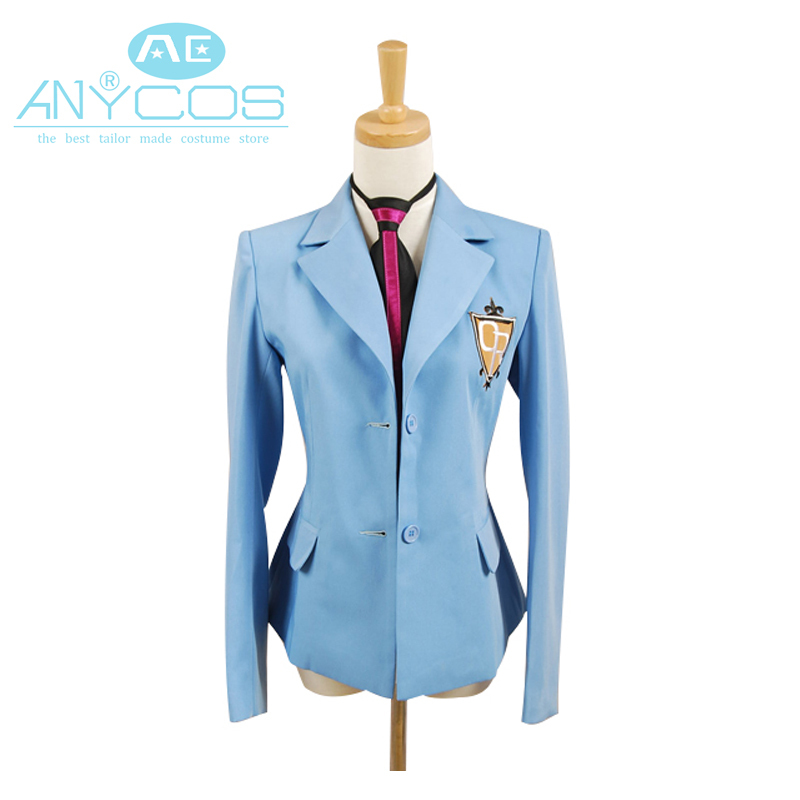 Ouran High School Host Club Cosplay Boy School Uniform Blazer Blue Jacket Coat Haruhi Kyoya Hikaru Takashi Halloween Costume