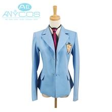 Ouran High School Host Club Boy School Uniform Blazer Blue Jacket Coat Tie Anime Halloween Cosplay Costume