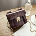 2017 Nova moda scarlet pequena bolsa de grife de alta qualidade do couro DO PLUTÔNIO ombro sacos de crocodilo padrão de sacos das senhoras sacos cadeia
