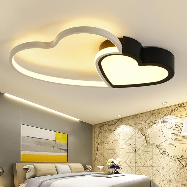 Black And White Modern Led Restaurant Ceiling Chandelier Bedroom Childrenu0027s  Living Room Chandelier Aluminum Alloy 80