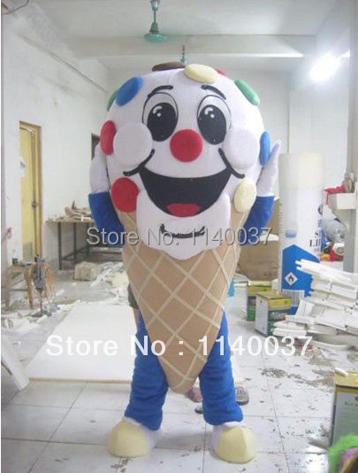 mascot plush icecream food mascot costumes for adult custom made plush ice cream dessert mascotte outfit suit free shipping