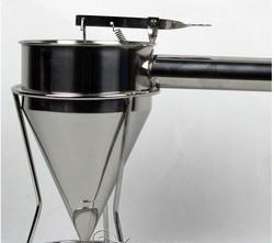Stainless Steel Batter Dispenser Takoyaki Tool Hopper for Mix Food and Waffle Making