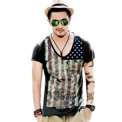 2017 New Retro Mens Summer Tops Tees Short Sleeve T-Shirt