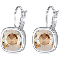 Fashion Female Jewelry Square Crystal Luxury Famous Brand Women Earrings Gift Items Made With Swarovski Elements