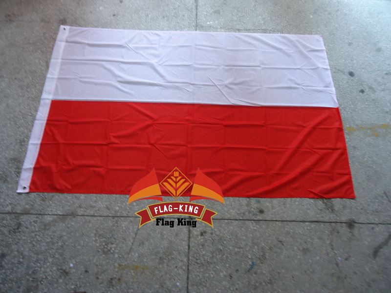 poland national flag 100 polyster 120 180cm anti uv digital