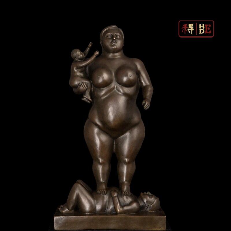 Él fue decoración del hogar obras de arte de Botero escultura ornamentos escultura abstracta escultura de bronce DS-289