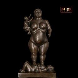 Он был домашнего интерьера художественные работы Ботеро скульптуры украшения абстрактная скульптура бронзовая скульптура DS-289