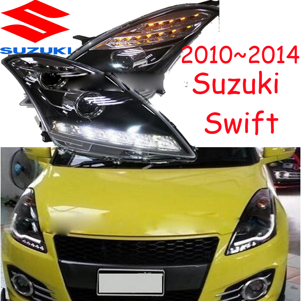 Suzuke swift headlight,2010~2015 (Fit for LHD),Free ship! swift fog light,Aerio,Ciaz,Reno,kizashi,s-cross,samurai,Forenza,Equato mitsubish grandis headlight 2008 fit for lhd