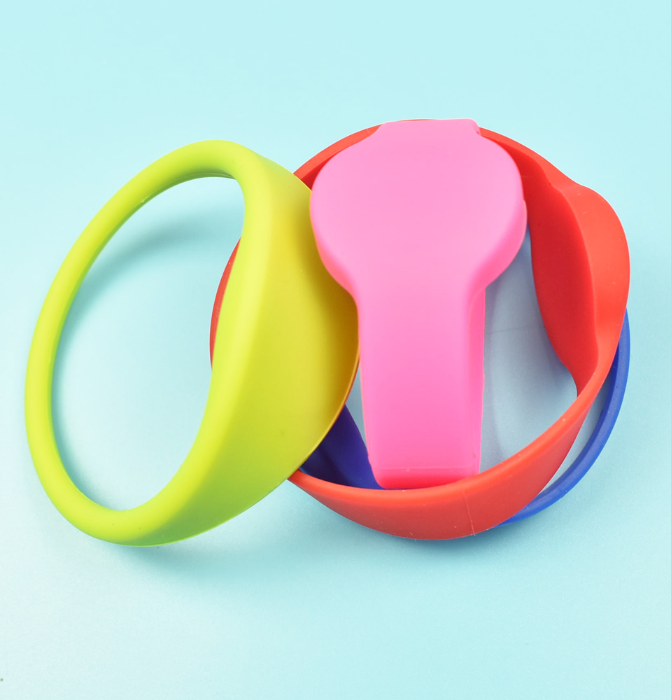 10PCS 125khz RFID EM4100 TK4100 Wristband Bracelet Silicone Waterproof ID Card