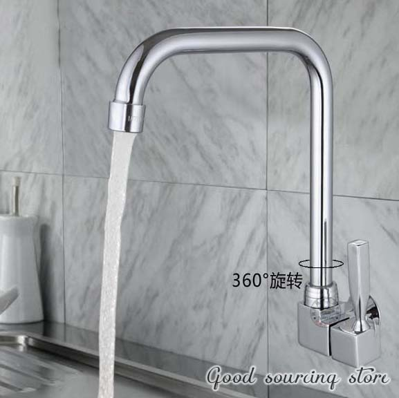 High Quality Single Cold Water Wall Mounted Square Kitchen Tap Faucet