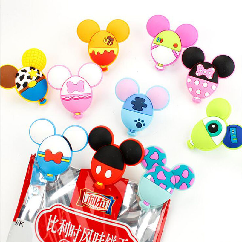 40pcs/lot Kawaii Cartoon Balloon Paper Clips File Mini Photos Clip Bag Sealing Bookmark Stationery Office School Supplies G076