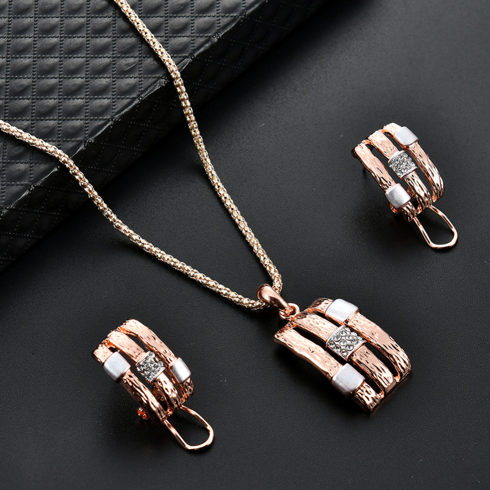 Rose Gold Alloy Punk Wind...