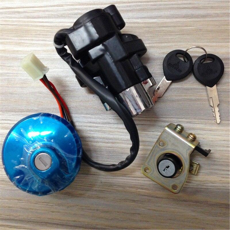 Otomobiller ve Motosikletler'ten Kilitler ve Donanım'de STARPAD Için Elektrikli kapı kilitleri + + eyer yakıt deposu kapağı kilidi Lifan 150 11 \ 14 title=