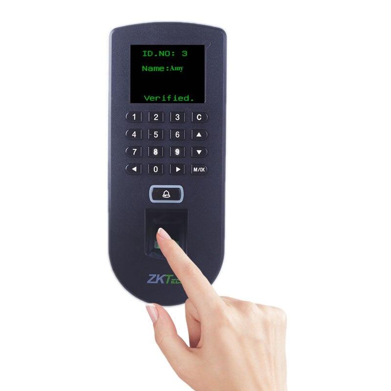 Rationalisé et Mince conception pour Des Espaces Étroits Bâtiment D'accès Biométrique ZKTeco TF19 Facile Fonctionnement Fuseaux horaires et Accès Groupes