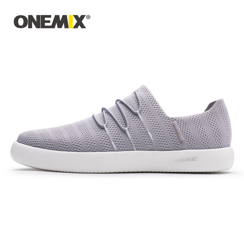 ONEMIX 2019 Men Slip-on Boat Shoes Deodorant Insole Moisture Absorption Light Shoes Women All-match Sneakers For Outdoor Walking