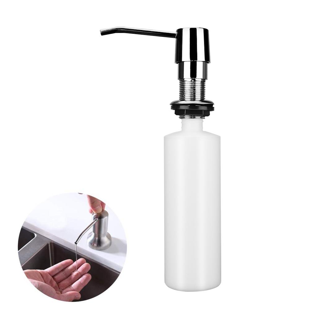 Liquid Soap Dispenser Pump Head Kitchen Sink Stainless Steel Liquid Dish Built In Hand Lotion Shampoo Deck Mount Dispenser