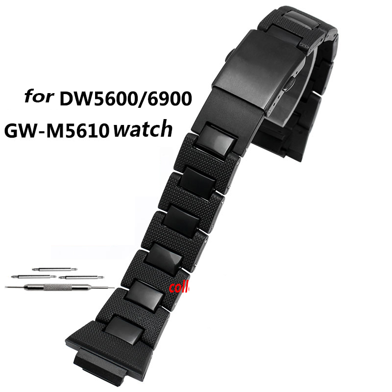 High quality Plastic watchband for DW-6900/DW9600/DW5600/GW-M5610 strap bracelet with PVD black stainless steel buckleHigh quality Plastic watchband for DW-6900/DW9600/DW5600/GW-M5610 strap bracelet with PVD black stainless steel buckle