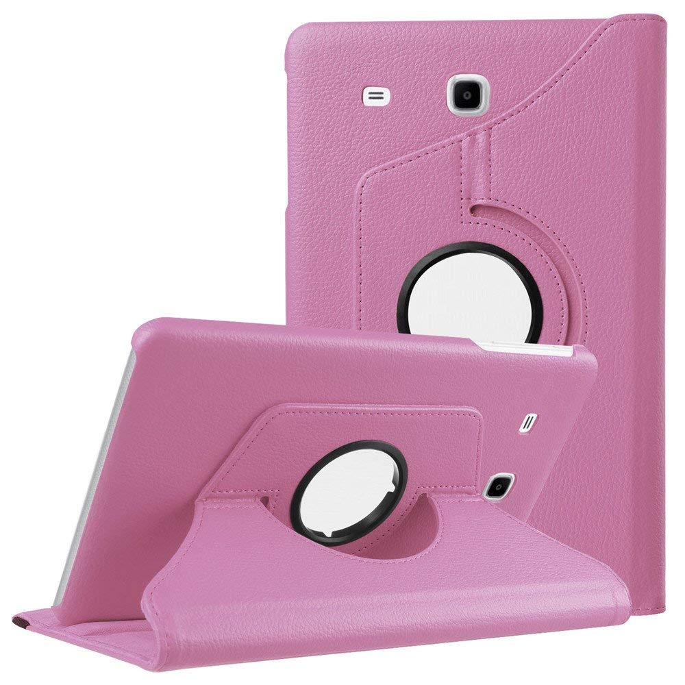 360 Degree Rotating Cover Case For GALAXY Tab E 9.6 SM-T560 PU Leather Flip Case For Samsung Tab E 9.6inch T560 T561 Tablet Case