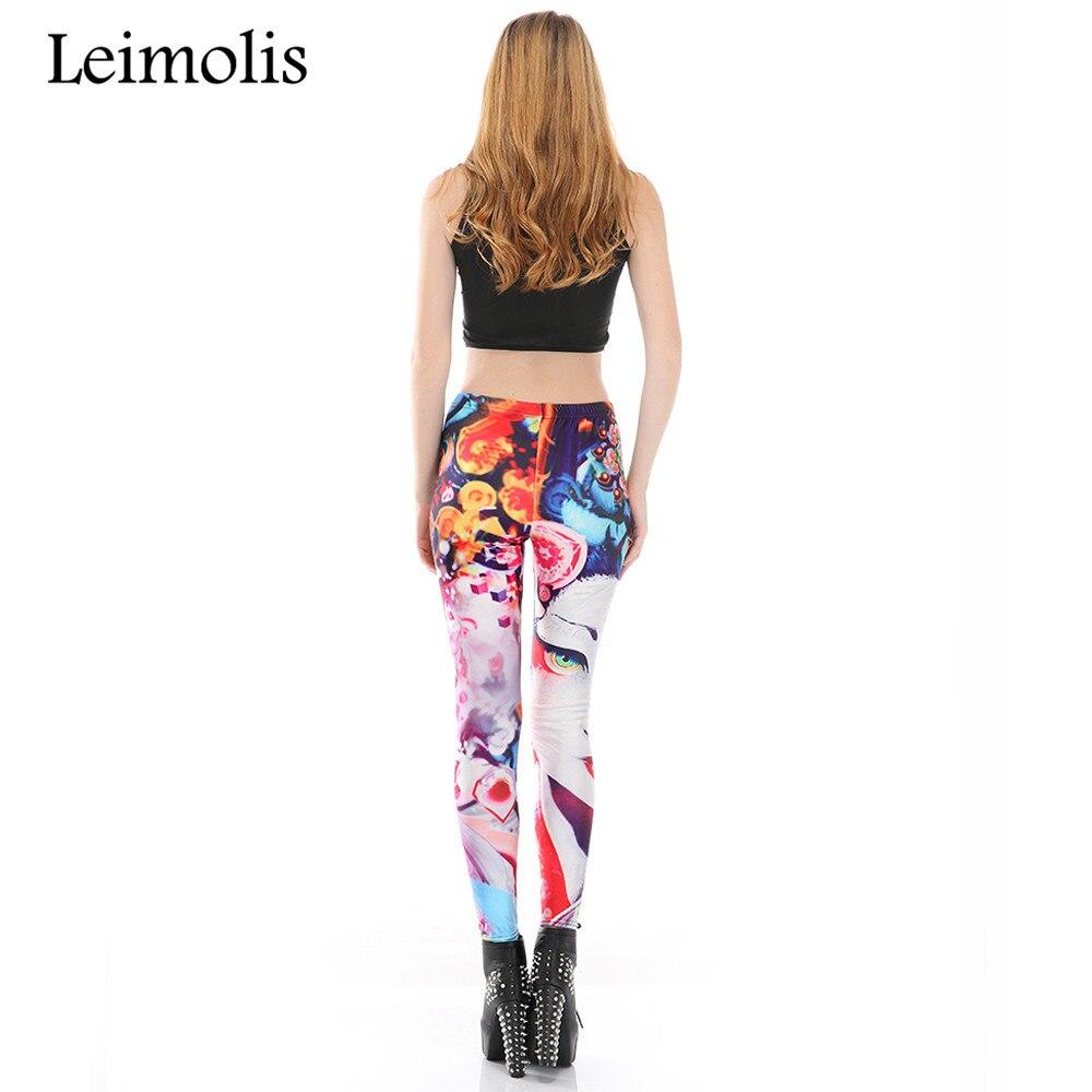 Леггинсы Leimolis для фитнеса, с 3D принтом, великолепные, красивые, в стиле Харадзюку, панк, с высокой талией, для тренировок, пуш-ап, из спандекса,...
