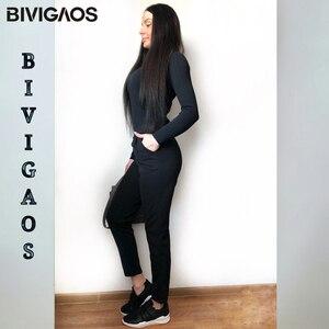 Image 3 - BIVIGAOS wiosna lato nowe panie koreański OL czarne spodnie Harem oddychające cienkie spodnie ołówkowe na co dzień prosty garnitur spodnie dla kobiet