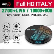 IPTV Italy Arabic Portugal France Turkey Spain ITHDTV HK1 MAX 4G+32G BT Dual-Band WIFI Qatar IP TV