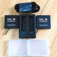 새로운 오리지널 SJCAM SJ8 시리즈 1200mAh 배터리 충전기 듀얼 충전기/케이스 SJ8 Pro/ Plus/ Air Actioin 카메라 액세서리
