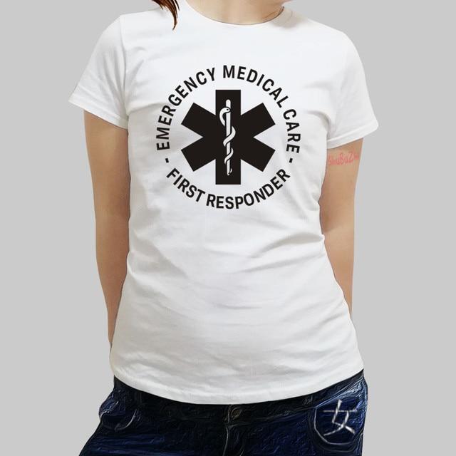 f0fae85591 Fashion Emergency Medical Care First Responder Truck Van T Shirt Cotton  Brand Clothing women Tshirt O Neck Shirts