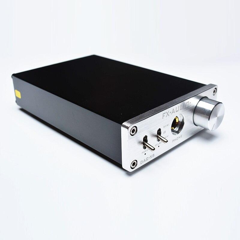 NOUVEAU FX-AUDIO DAC-X6 MINI HiFi 2.0 Numérique décodeur audio DAC Entrée USB/Coaxial/Optique Sortie RCA/Amplificateur 24Bit /96 KHz DC12V - 2