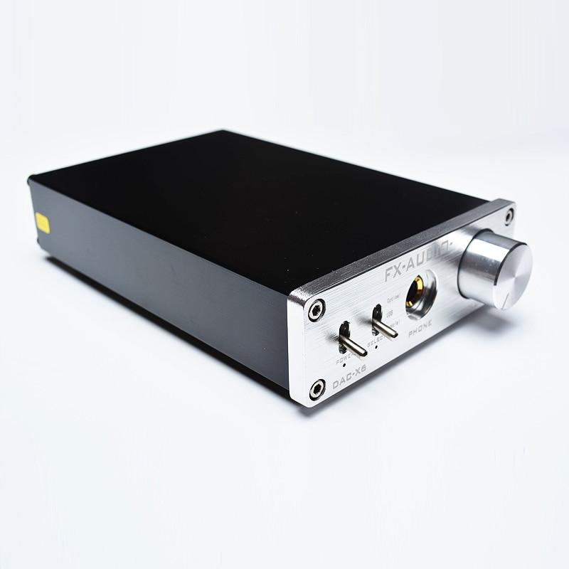 Nuevo FX-AUDIO DAC-X6 MINI HiFi Digital 2,0 decodificador de Audio DAC USB de entrada/Coaxial/Salida Óptica RCA/amplificador 24Bit/96 KHz DC12V - 2