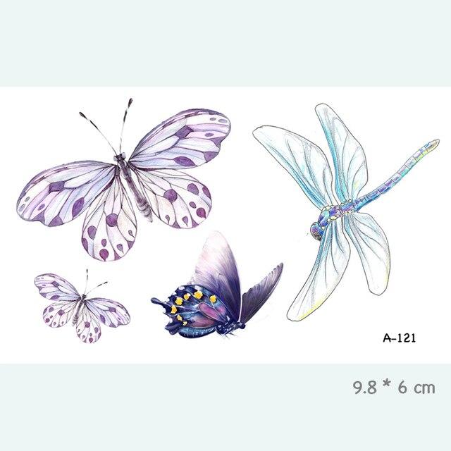 Wyuen Animal Beast Butterfly Waterproof Temporary Tattoo Sticker For Adults Kids Bear Tiger WomenBody Art Fake Tatoo A-117