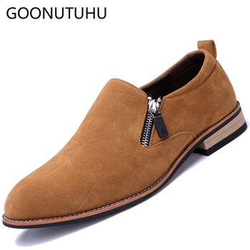 2019 new style fashion men's shoes casual suede leather loafers male classic brown black slip on shoe man driving shoes for men 2020 new style fashion men s shoes casual genuine leather loafers male classic slip on shoe man flats soft driving shoes for men