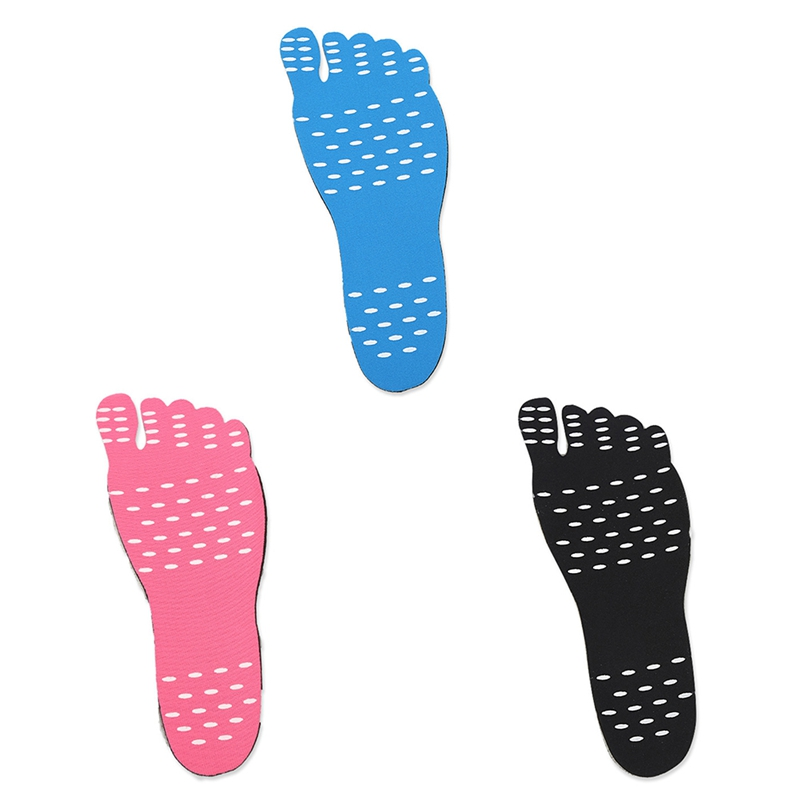 HOT Beach Barefoot Invisible Shoes Insole Heat Insulation Waterproof Non-slip Stick On Adhesive Foot Protection Pad Stickers