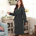 Plus Size 4XL Inverno Vestes das Mulheres da Longo-Luva de Algodão Engrossar Homens Roupão Sleepwear Casal Robe Longue