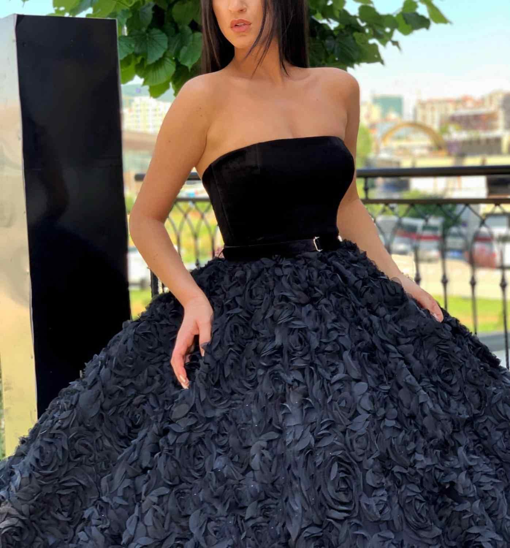 Роскошное Выпускное Платье длинное 2019 элегантное милое бальное платье Дубай Черное вечернее платье для вечеринки Arabia Robe De Soiree