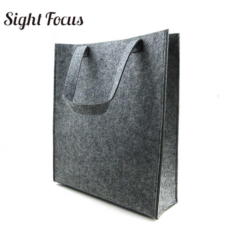 84d0d1fd83e3 Вместительная войлочная сумка шт. 400 Серый для женщин простой журнал сумка  мужчин Экологичные фетр файл