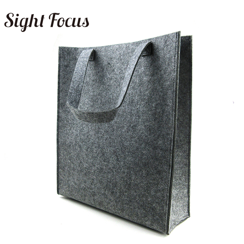 Вместительная войлочная сумка шт. 400 Серый для женщин простой журнал сумка мужчин Экологичные фетр файл сумки леди простой ежедневно дорожн