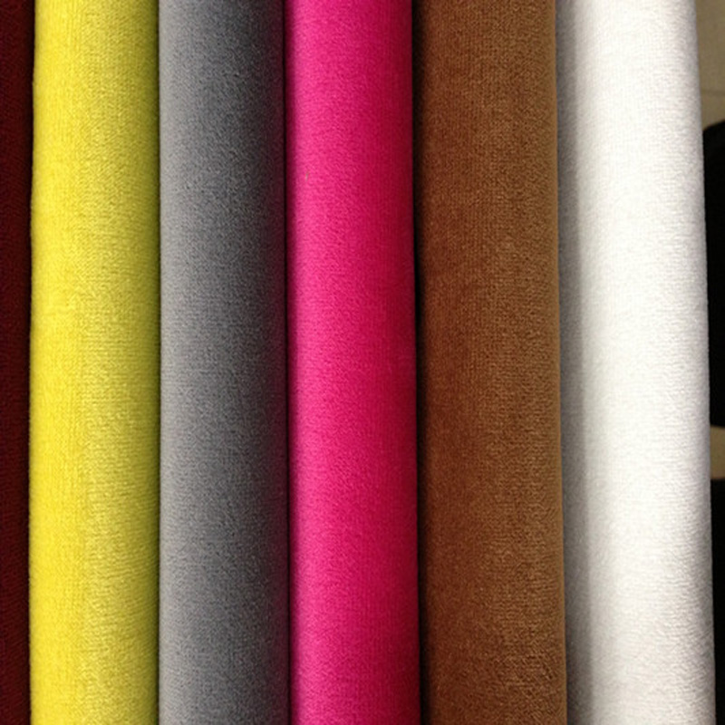 Quality Flannelet Thickening Super Soft Solid Color Upholstery Sofa fabric Diy Casual Cushion Pillow Fabric