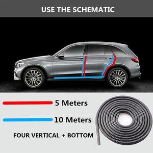 Image 3 - Universal 10 M Scratch Protetor de Borda Da Porta de Carro Tira de Vedação Guarnição Guarda Protetor de Porta Adesivos Decoração do Automóvel Do Carro styling