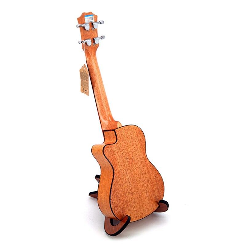 SevenAngel 23 pouces Concert ukulélé acajou manquant Angle ukelelehawian 4 cordes Mini guitare électrique Uku avec ramassage EQ - 2