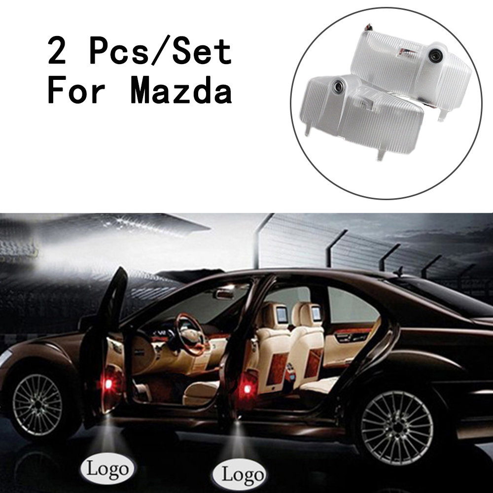 LED Courtesy With Logo Step Door Courtesy Laser 12V Lens Include Ghost Shadow Projetor Only For Mazda 6 7W 2Pcs/Set